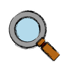 Magnigying glass icon vector