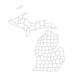 map of michigan vector image