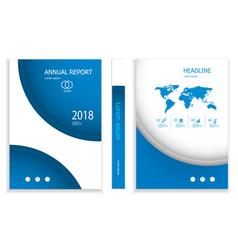 modern deep blue circle business brochure design vector image