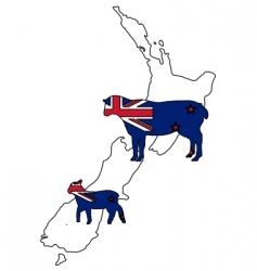 New Zealand sheep vector image