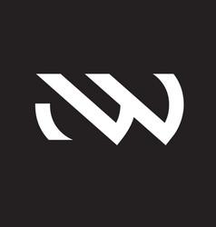 nw letter based logo vector image