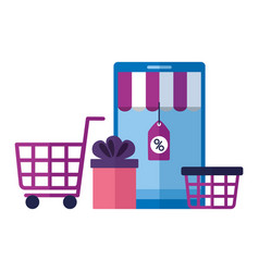 online shopping ecommerce concept vector image