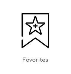 Outline favorites icon isolated black simple line vector
