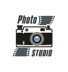 Photo studio camera icon vector