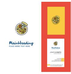pizza creative logo and business card vertical vector image