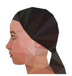 Profile of Girl geometric triangular stile vector image