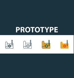 Prototype icon set premium symbol in different vector