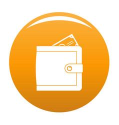 purse pay icon orange vector image