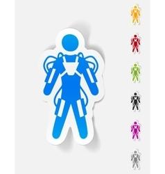 Realistic design element exoskeleton vector