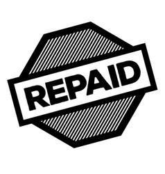 repaid black stamp vector image