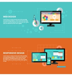Responsive and web design concept vector