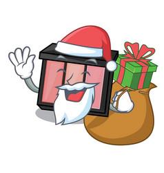 Santa with gift eye shadow above character vector