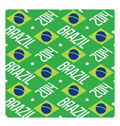 Seamless pattern Brazil 2014 vector image