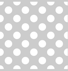seamless tile white polka dot pattern on grey vector image