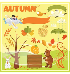 Set of Autumn Elements and vector