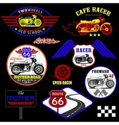 Set of vintage motorcycle badges vector image