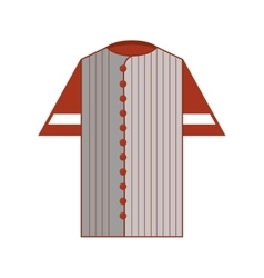 shirt uniform baseball team icon vector image vector image