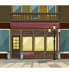 Shop Restaurant Cafe Store Front with Windows vector