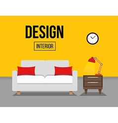sofa interior design vector image