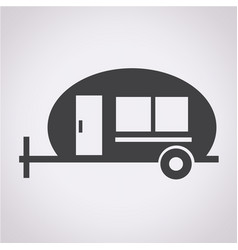 trailer recreation vehicle icon vector image