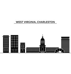 Usa west virginia charleston architecture vector