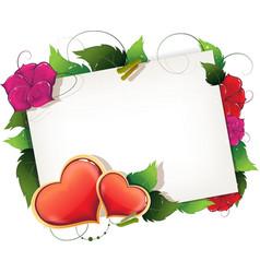 Valentine greeting vector image