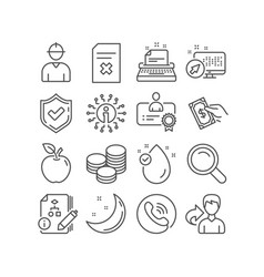 Vitamin e pay money and tips icons certificate vector