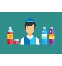 Water soda and juice or tea bottles vector image