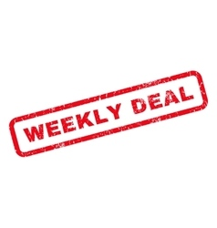 Weekly Deal Rubber Stamp vector image