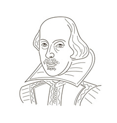 William shakespeare sketch black vector