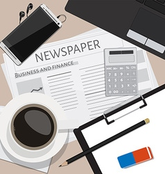 Working place vector image