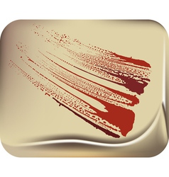 blood stain vector image vector image