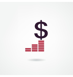 income icon vector image