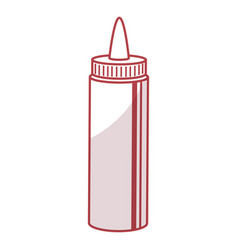Sauce bottle isolated icon vector