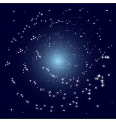 Stars spiral galaxy vector