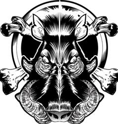 wild bore face vector image