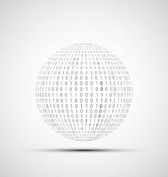 Ball of binary code vector image vector image