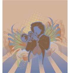 concert poster with trumpet player vector image