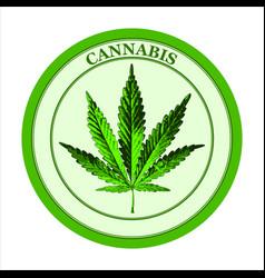 leaf cannabis vector image