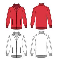 long sleeve jacket with zipper vector image