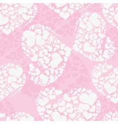 seamless love background from heart shaped butterf vector image