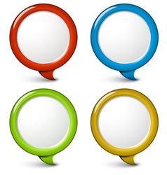 Set of round simple 3d bubbles vector image