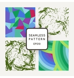 Set of seamless patterns of polygons and vector image