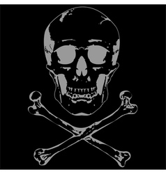 Skull and crossbones 2 vector image