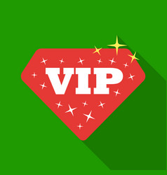 vip icon in flat style isolated on white vector image vector image