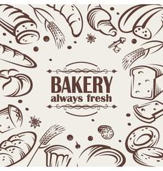 bread background vector image