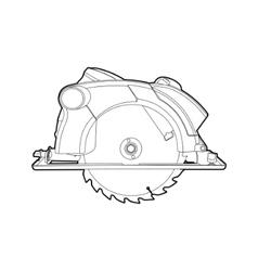 Circular saw vector