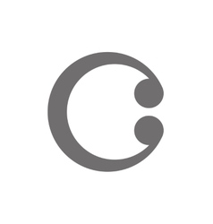 Letter C Logo Concept Icon vector image vector image