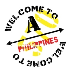 Philippines stamp rubber grunge vector