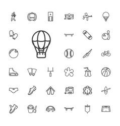 33 recreation icons vector